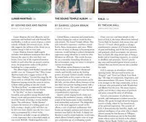 LA Yoga Magazine Album Review